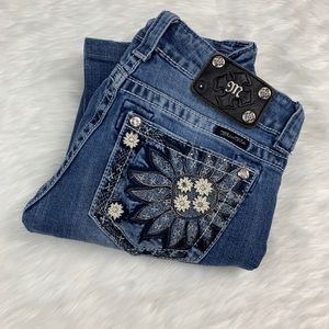 Miss Me | Sunflower Boot Cut Jeans 26